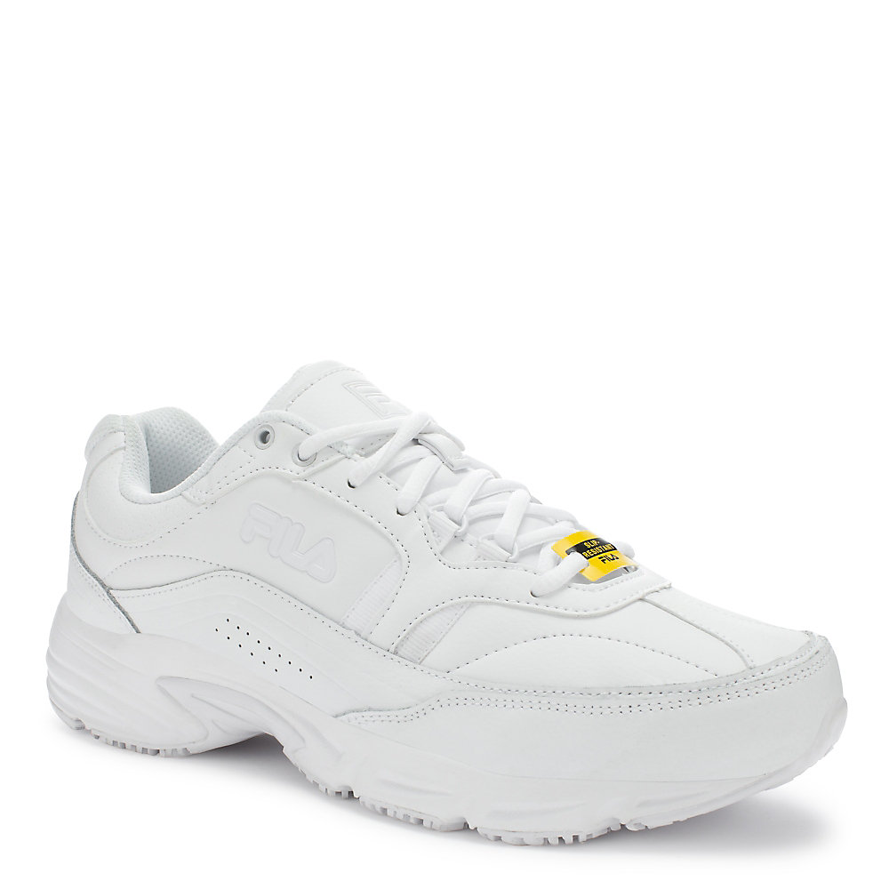 fila work shoes. men\u0027s memory workshift slip resistant in white fila work shoes o