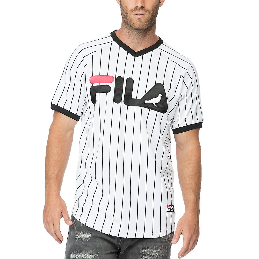 v-neck baseball jersey in NotAvailable