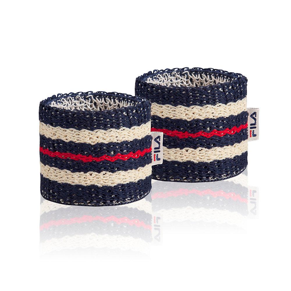 retro wristbands in peacoat