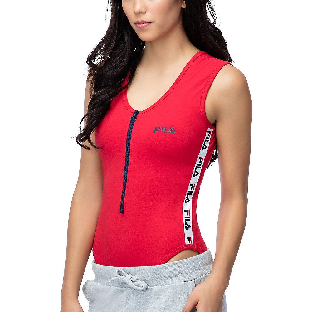 alicia bodysuit in red
