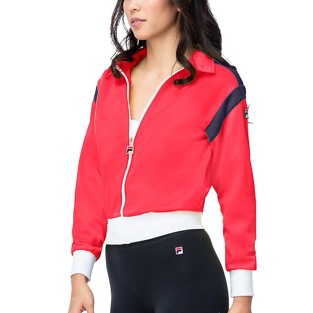 drew jacket in red