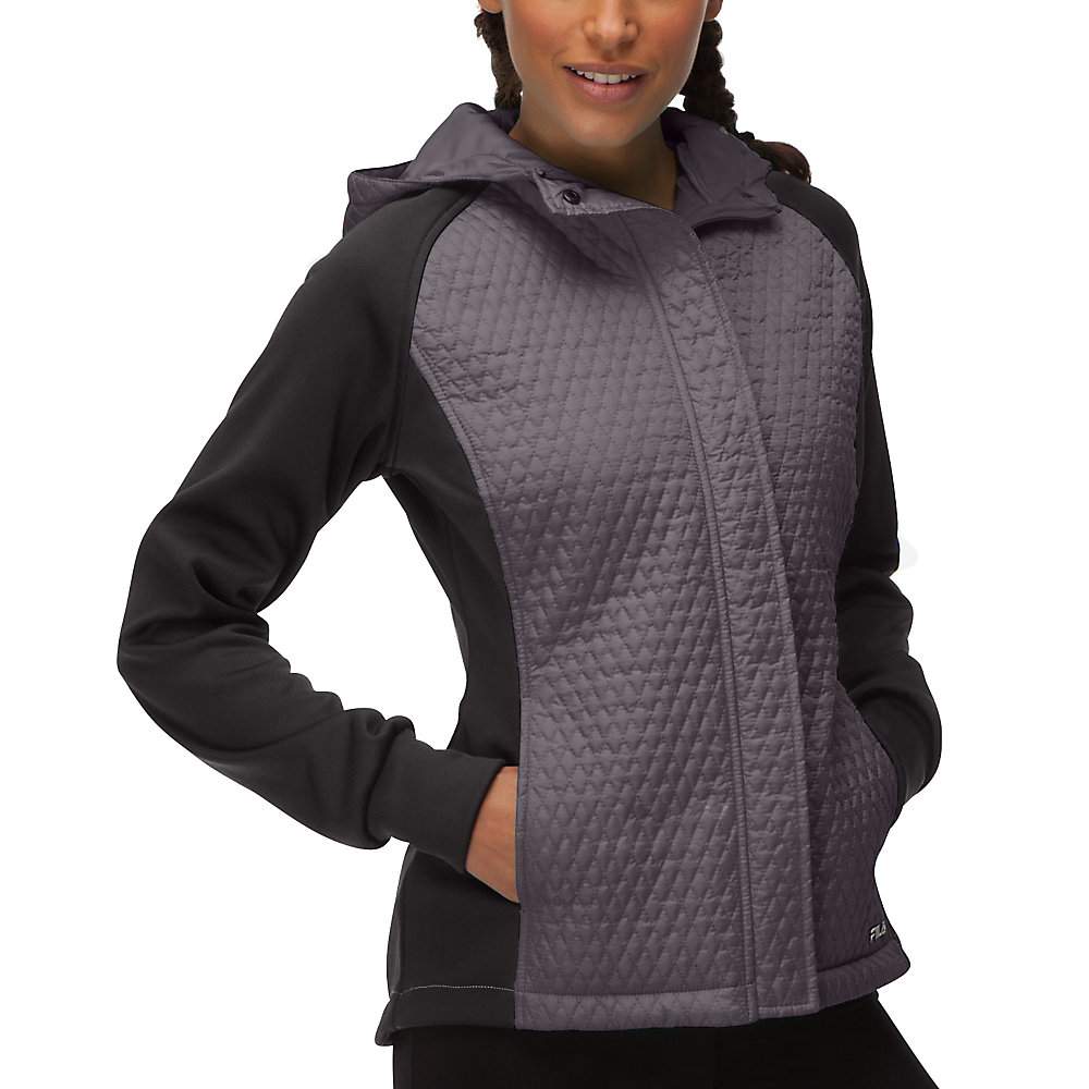 quilted jacket in shark