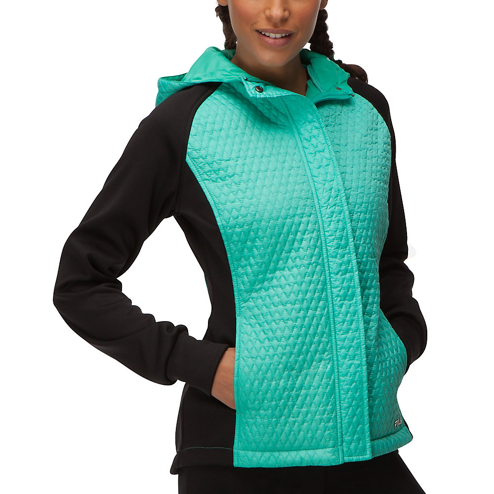 quilted jacket in mosaicblue