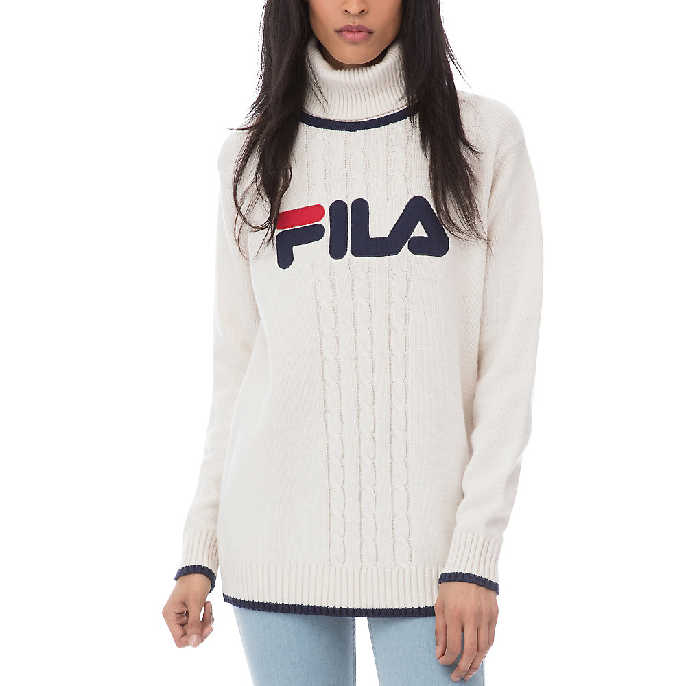 asia turtleneck sweater in ivory