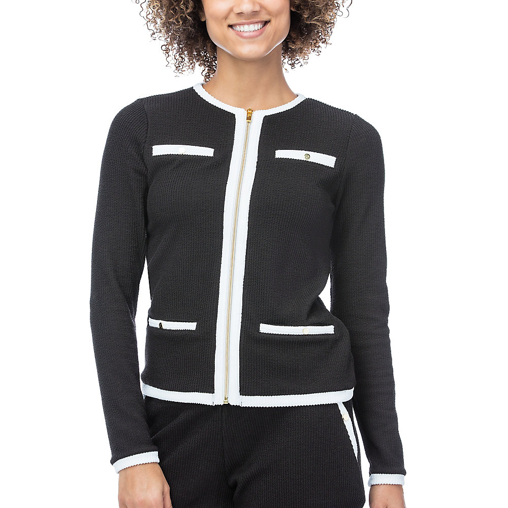 court couture jacket in black