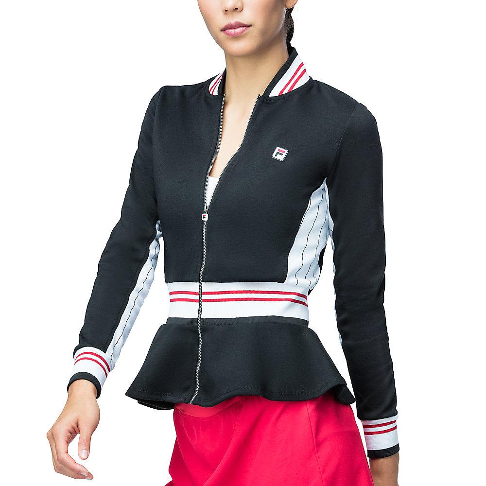 heritage peplum jacket in black