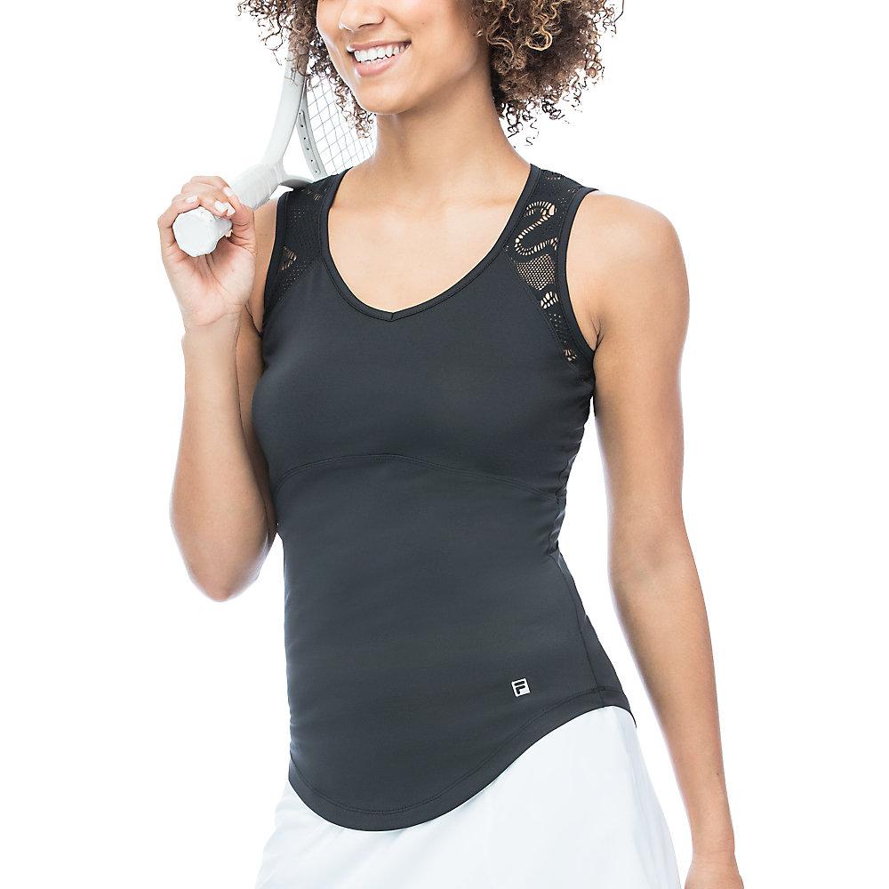 ace full back sleeveless tank in black