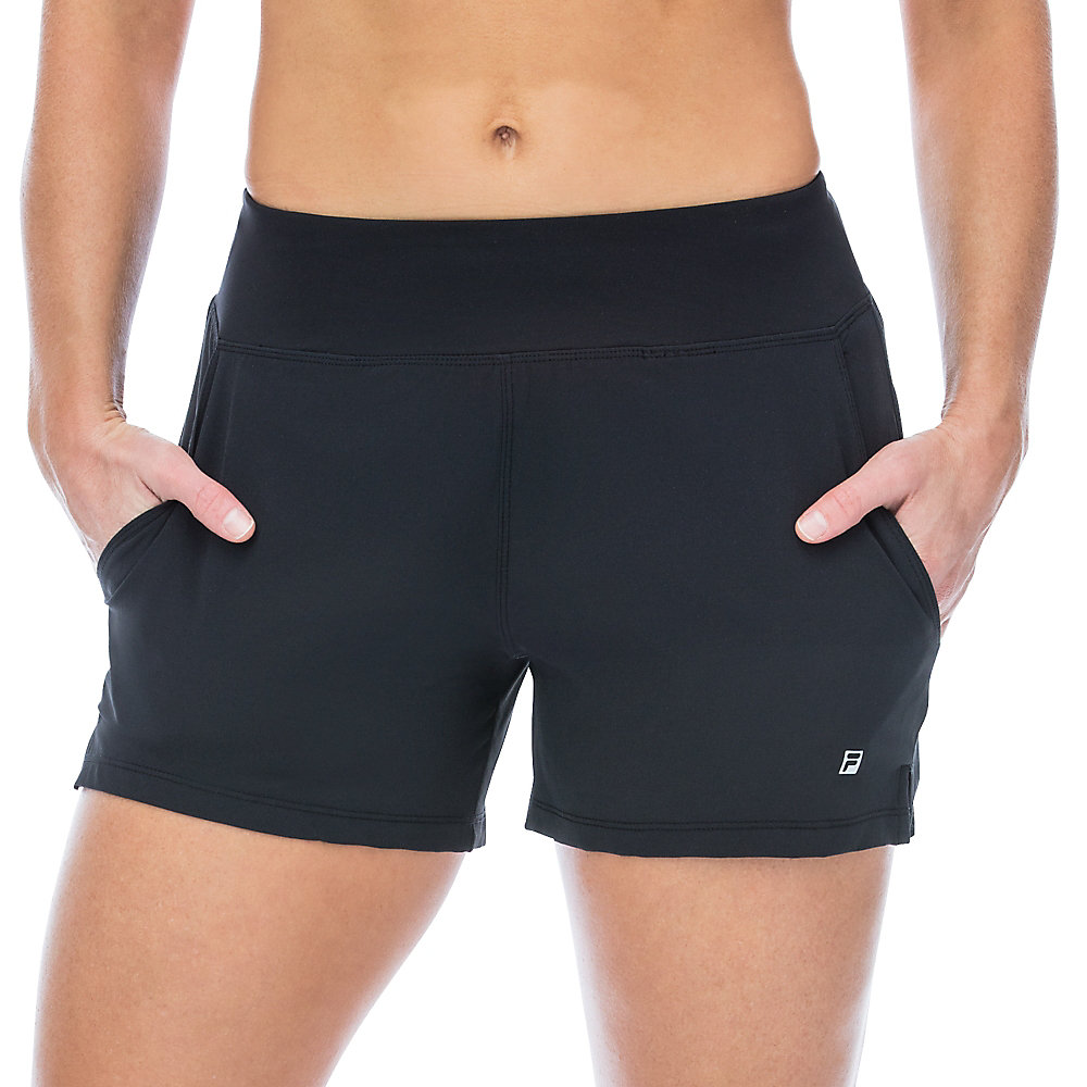 double layer short in black
